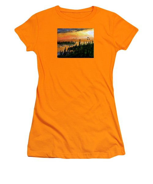 Passing The Rugged Shore Women's T-Shirt (Junior Cut) by R Kyllo
