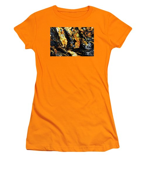 Women's T-Shirt (Junior Cut) featuring the photograph Patterns In Stone - 185 by Paul W Faust - Impressions of Light