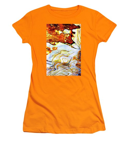 Women's T-Shirt (Junior Cut) featuring the photograph Patterns In Stone - 201 by Paul W Faust - Impressions of Light