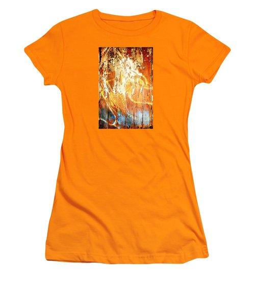 Peeling Wall Portrait Women's T-Shirt (Junior Cut) by Andrea Barbieri
