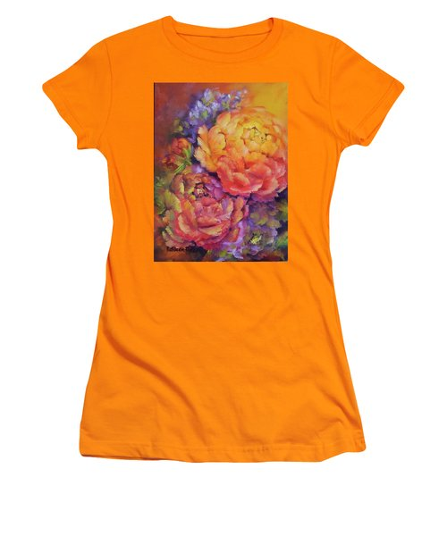 Peonies At Sunset Women's T-Shirt (Athletic Fit)