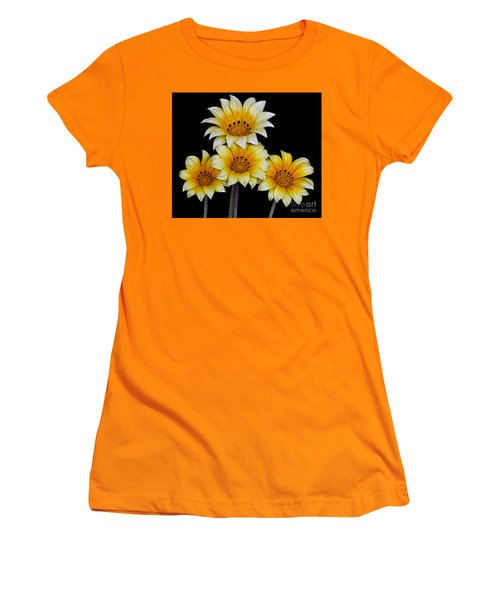 Women's T-Shirt (Junior Cut) featuring the photograph Peruvian Daisies by Shirley Mangini