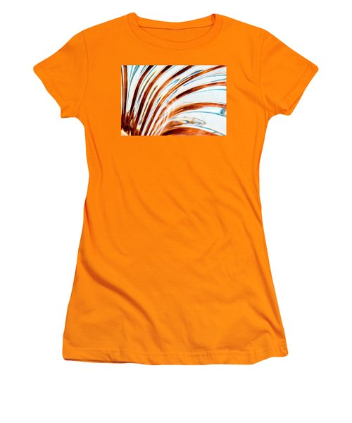 Women's T-Shirt (Athletic Fit) featuring the photograph Petals Of Glass by Wendy Wilton