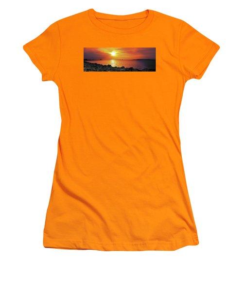 Petoskey Sunset Women's T-Shirt (Athletic Fit)