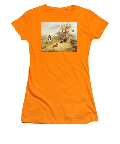 Pheasant Shooting Women's T-Shirt (Athletic Fit)