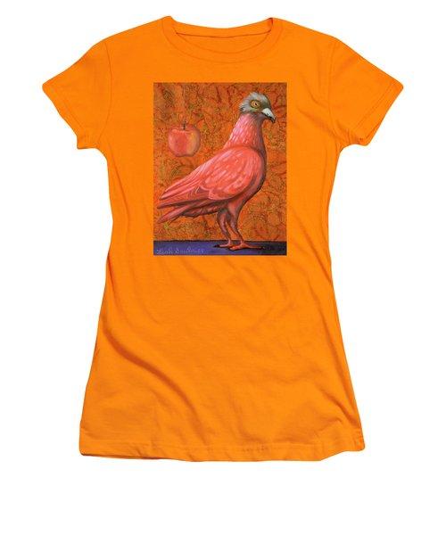 Pink Lady Women's T-Shirt (Junior Cut) by Leah Saulnier The Painting Maniac