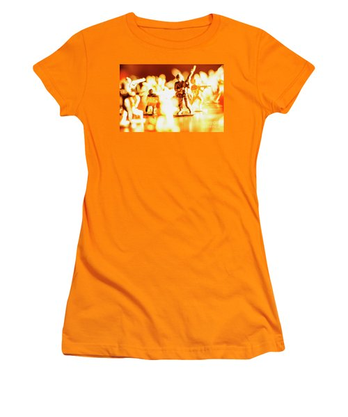 Women's T-Shirt (Junior Cut) featuring the photograph Plastic Army Men 1 by Micah May