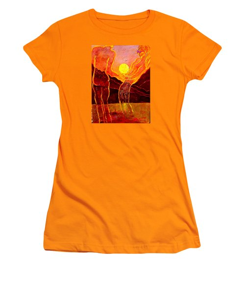 Playing With The Moon Women's T-Shirt (Athletic Fit)