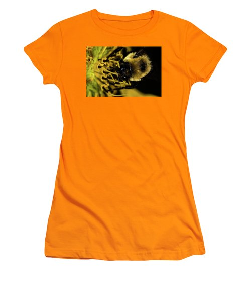 Women's T-Shirt (Junior Cut) featuring the photograph Pollen Collector 2 by Jay Stockhaus