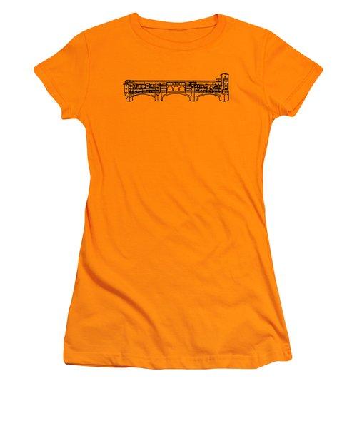 Ponte Vecchio Florence Tee Women's T-Shirt (Athletic Fit)