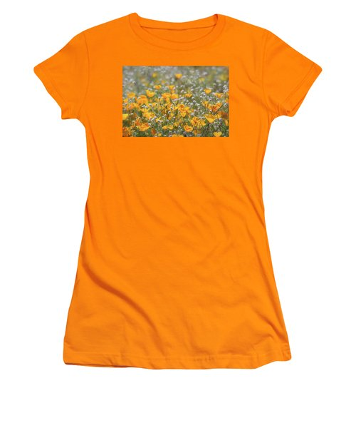 Women's T-Shirt (Junior Cut) featuring the photograph Poppies Fields Forever  by Saija Lehtonen