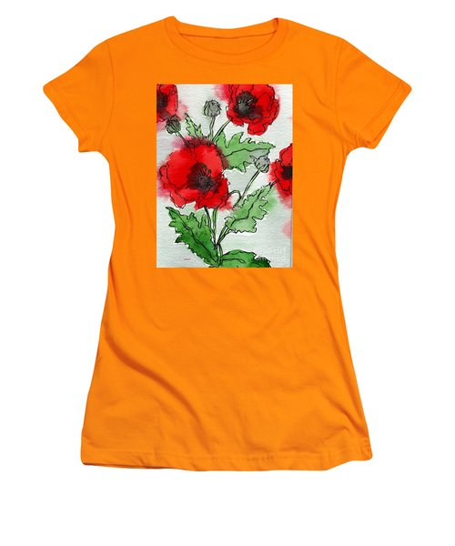 Poppies Popped Women's T-Shirt (Athletic Fit)
