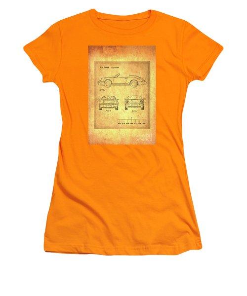 Porsche Blueprint Women's T-Shirt (Junior Cut) by Steven Parker