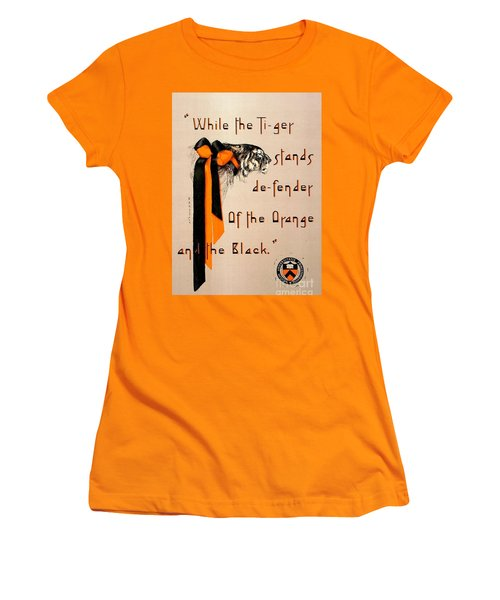 Poster - Princeton Tigers Women's T-Shirt (Junior Cut) by Pg Reproductions