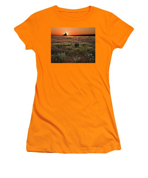 Prairie Sunset Women's T-Shirt (Athletic Fit)