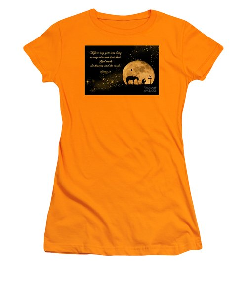 Prayer Of A Cowboy Women's T-Shirt (Junior Cut) by Bonnie Barry