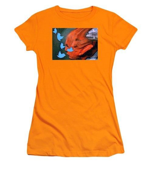 President Of Twitter Women's T-Shirt (Junior Cut) by Ted Azriel