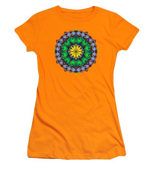 Psychedelic Mandala 003 A Women's T-Shirt (Junior Cut) by Larry Capra