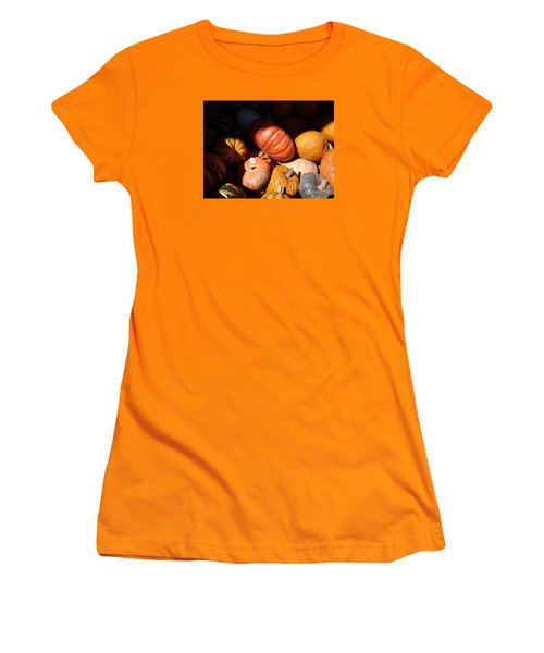 Women's T-Shirt (Junior Cut) featuring the photograph Punkin Patch by Fred Wilson