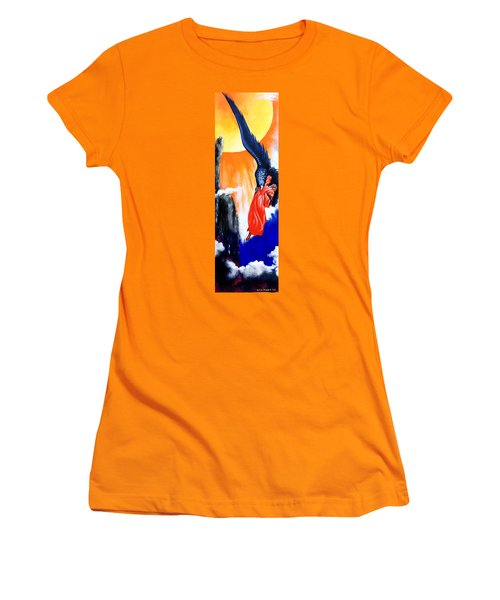 Purgatorio Women's T-Shirt (Junior Cut) by Victor Minca