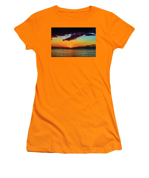 Purple Paints The Orange Women's T-Shirt (Athletic Fit)