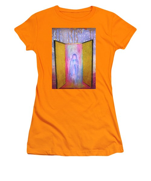 Queen Of Heaven Women's T-Shirt (Junior Cut) by Mary Ellen Frazee