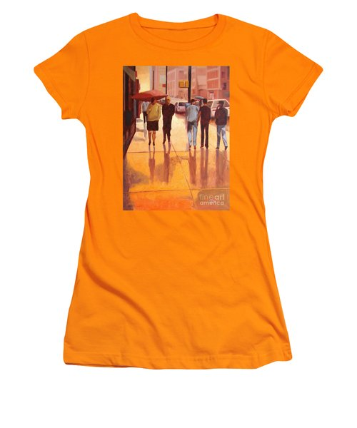 Rain In Manhattan Number Eighteen Women's T-Shirt (Athletic Fit)