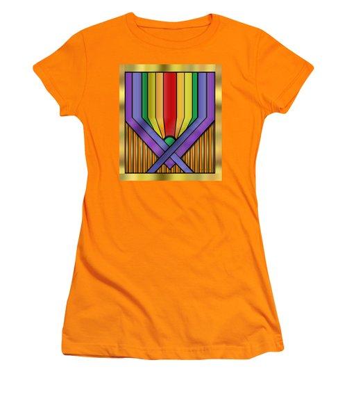 Women's T-Shirt (Junior Cut) featuring the digital art Rainbow Base Transparent by Chuck Staley