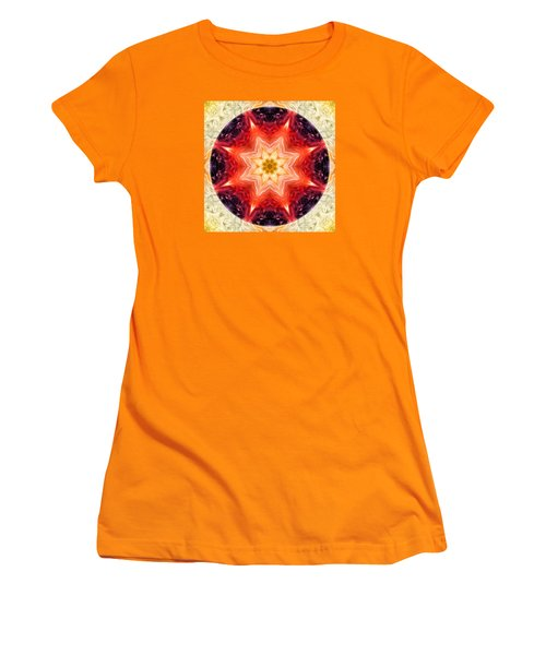 Rainbow Burst Mandala Women's T-Shirt (Athletic Fit)