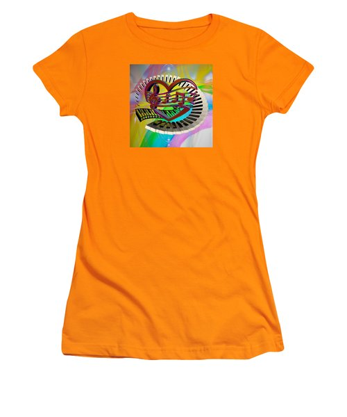 Rainbow Love Of Music  Women's T-Shirt (Athletic Fit)