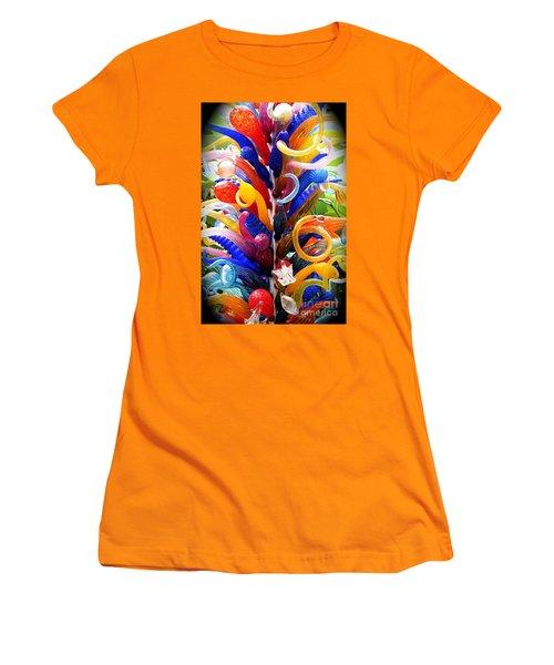 Rainbow Spirals Women's T-Shirt (Athletic Fit)