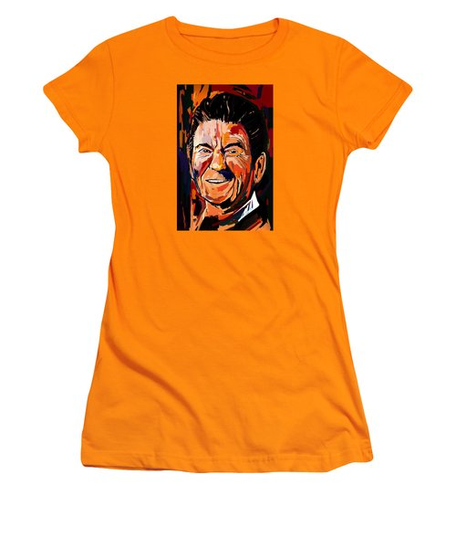 Reagan Revisited Women's T-Shirt (Junior Cut) by John Jr Gholson