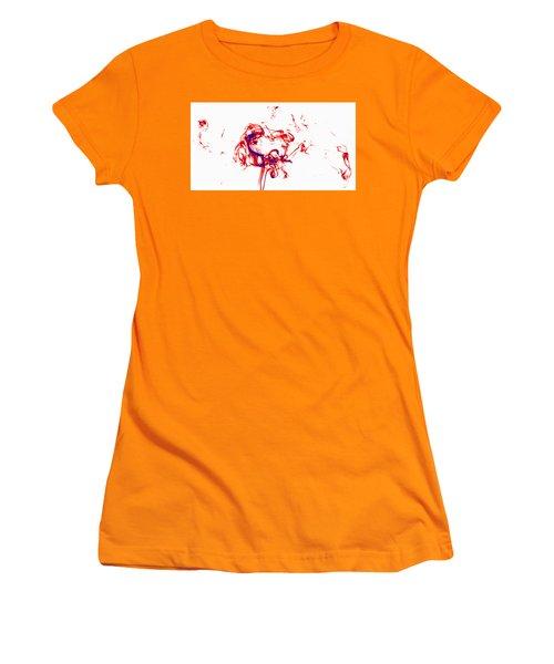 Red And Blue Twirrl Women's T-Shirt (Junior Cut) by Rainer Kersten