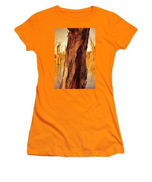 Red Bark Women's T-Shirt (Junior Cut) by Douglas Barnard