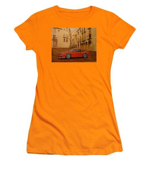 Red Gt3 Porsche Women's T-Shirt (Athletic Fit)