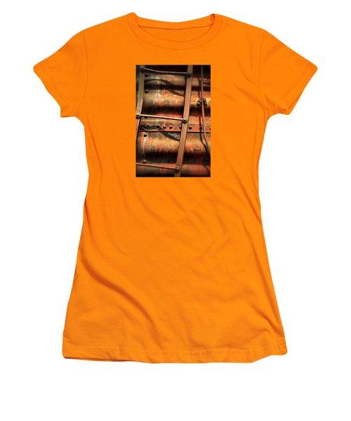 Red Ladder Women's T-Shirt (Junior Cut) by Newel Hunter