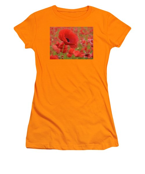 Red Poppies 3 Women's T-Shirt (Athletic Fit)