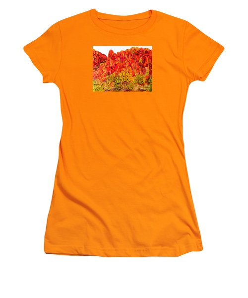 Red Rock Canyon Veiw From The Loop Women's T-Shirt (Junior Cut) by Vicki  Housel
