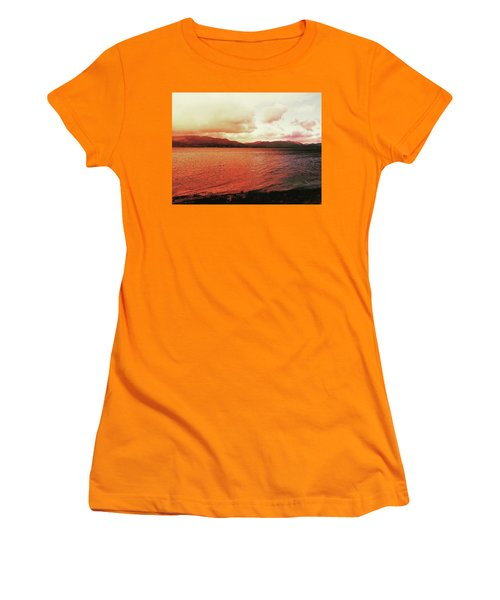 Red Sky After Storms  Women's T-Shirt (Athletic Fit)
