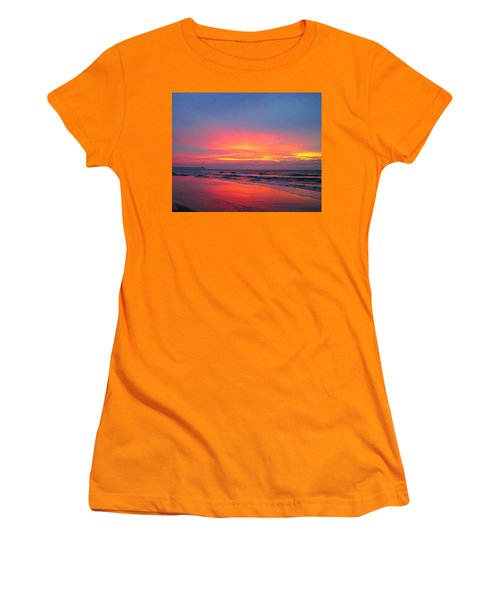 Red Sky At Morning Women's T-Shirt (Junior Cut) by Betty Buller Whitehead