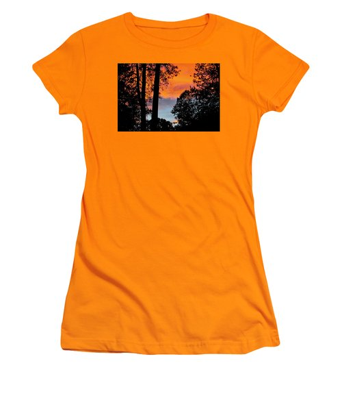 Women's T-Shirt (Athletic Fit) featuring the photograph Red Sky At Night by Michele Myers