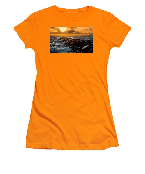 Redondo Beach Sunset Women's T-Shirt (Junior Cut) by Ed Clark