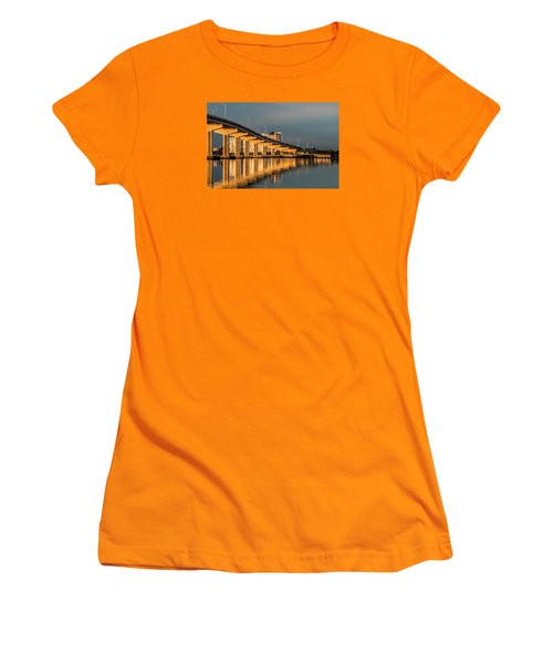 Reflections And Bridge Women's T-Shirt (Junior Cut) by Dorothy Cunningham