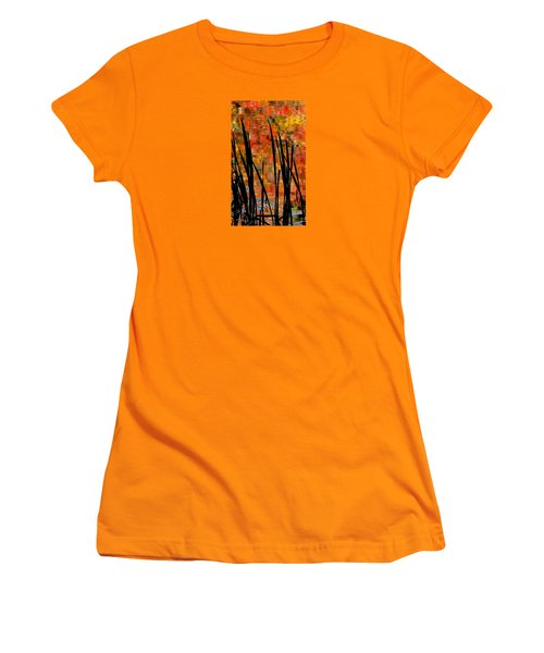Women's T-Shirt (Junior Cut) featuring the photograph Reflections On Infinity by Angela Davies