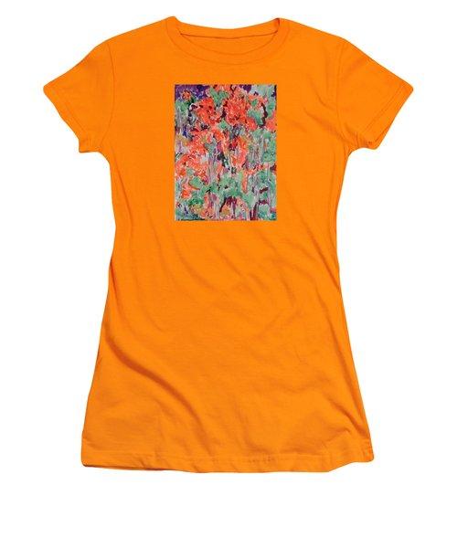 Regal Red Fall Foliage Women's T-Shirt (Junior Cut)
