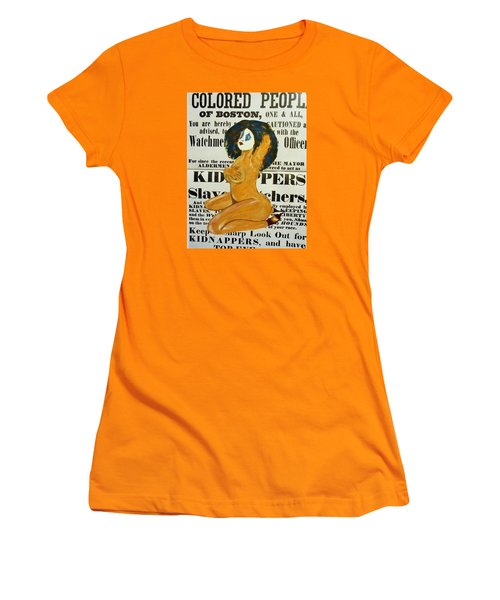 Renee  Caution Women's T-Shirt (Junior Cut) by Deedee Williams