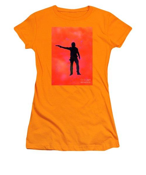 Rick Grimes Women's T-Shirt (Junior Cut) by Justin Moore