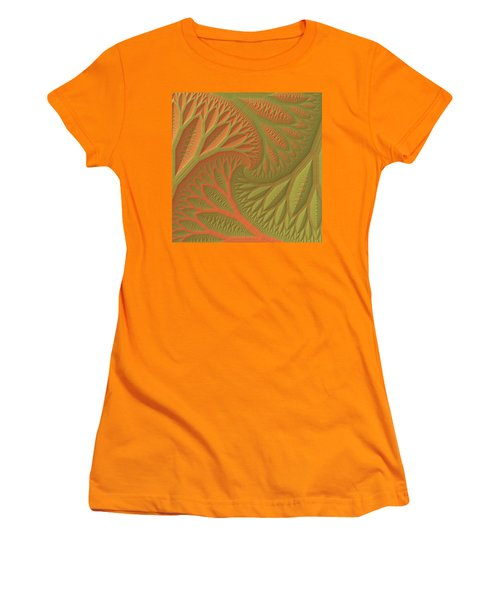 Women's T-Shirt (Junior Cut) featuring the digital art Ridges And Valleys by Lyle Hatch