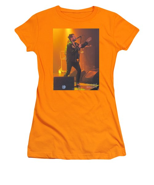 Women's T-Shirt (Junior Cut) featuring the photograph Rival Sons Jay Buchanan by Jeepee Aero