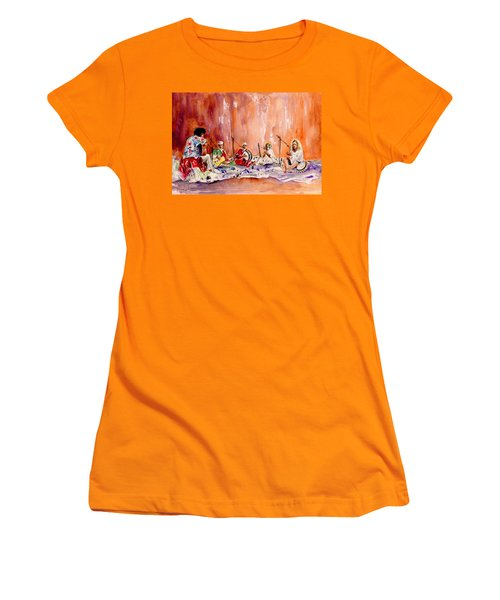 Robert Plant And Jimmy Page In Morocco Women's T-Shirt (Junior Cut) by Miki De Goodaboom